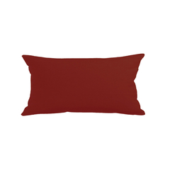 LNOR Leinen-Optik Kissenbezug RV Bordeaux 30 x 60 cm