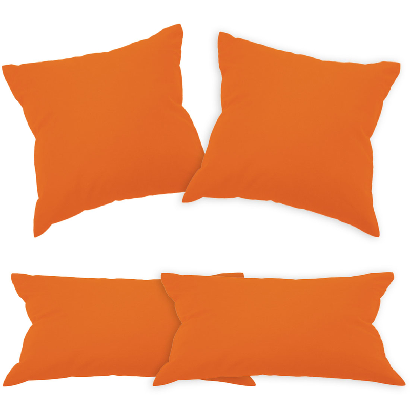 bwlr baumwolle kissen 2 er set orange 40 x 80 cm. Black Bedroom Furniture Sets. Home Design Ideas